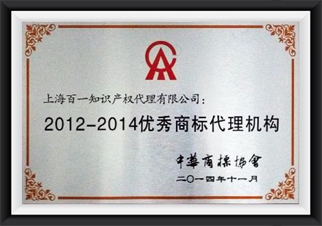 2012-2014优秀商标代理机构